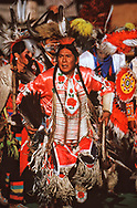 Traditional dancer at Pow Wow,Browning,Montana,USA