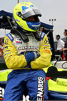 Vitor Meira at the Nashville Superspeedway, Firestone Indy 200, July 16, 2005