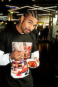 David Haye talks to the press about his upcoming fight with IBF, WBO and IBO heavyweight champion Wladimir Klitschko which will take place in front of up to 60,000 spectators when he takes on David Haye at the Veltins-Arena in Schalke, homefield of German Bundesliga team Schalke 04 on June 20.