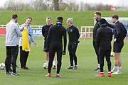 England players during England's Euro 2020 Qualifier training session at St George's Park National Football Centre, Burton-Upon-Trent, United Kingdom on 23 March 2019.