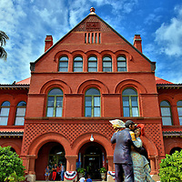 Museum of Art &amp; History in Key West, Florida<br /> This red brick building along Front Street was the Custom House when it was built in 1891. It also served as a post office and district courthouse. The U.S. Navy acquired the property in 1932 but later abandoned it for almost two decades. After a $9 million restoration of this Richardsonian Romanesque landmark, it reopened as the Key West Museum of Art &amp; History.