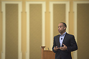 Tony Nuckolls, Vice President of Quicken Loans, speaks about how culture and branding accelerate performance during the 2016 Schey Sales Symposium held in Baker Center on November 3, 2016.