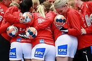 Danmark under VM-playoff-kampen mellem Danmark og Schweiz i Roskilde Kongrescenter Bauhaus Arena, den 1.6.2019. Photo Credit: Allan Jensen/Søren Tidemann/EVENTMEDIA.