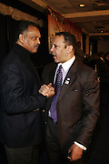 """l to r: Rev. Jesse Jackson and Marc Morial  at the opening reception of The 12th Annual RainbowPUSH Wall Street Project Economic Summit """" Fallout From The Bailout: A New Day in Washington """""""