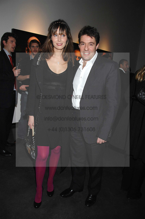 FRANCOIS GRAFF and KLARA OBERG at a private view of Octagan a showcase of work of photographer Kevin Lynch featuring the stars of the Ultimate Fighter Championship held at Hamiltons gallery, Mayfair, London on 17th January 2008.<br />