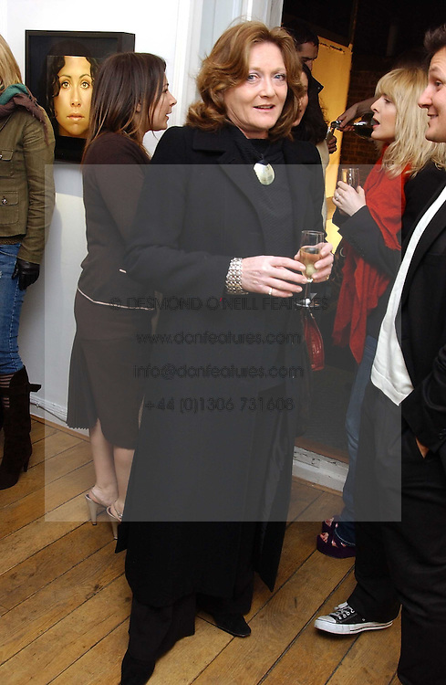 LEONORA, COUNTESS OF LICHFIELD at an exhibition of artist Jonathan Yeo's portrait paintings held at Eleven, 11 Eccleston Street, London SW1 on 16th February 2006.<br />
