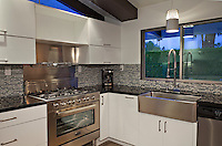 Modern kitchen counter in mansion