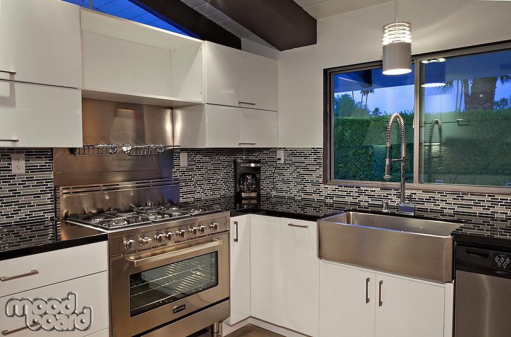 Modern kitchen counter in mansion