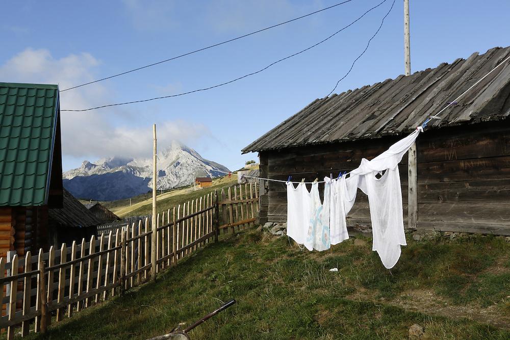 Stavna katun, over the Komovi range, Montenegro.