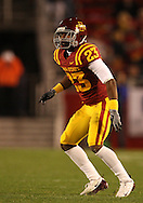 25 OCTOBER 2008: Iowa State defensive back Leonard Johnson (23) in the second half of an NCAA college football game between Iowa State and Texas A&M, at Jack Trice Stadium in Ames, Iowa on Saturday Oct. 25, 2008. Texas A&M beat Iowa State 49-35.