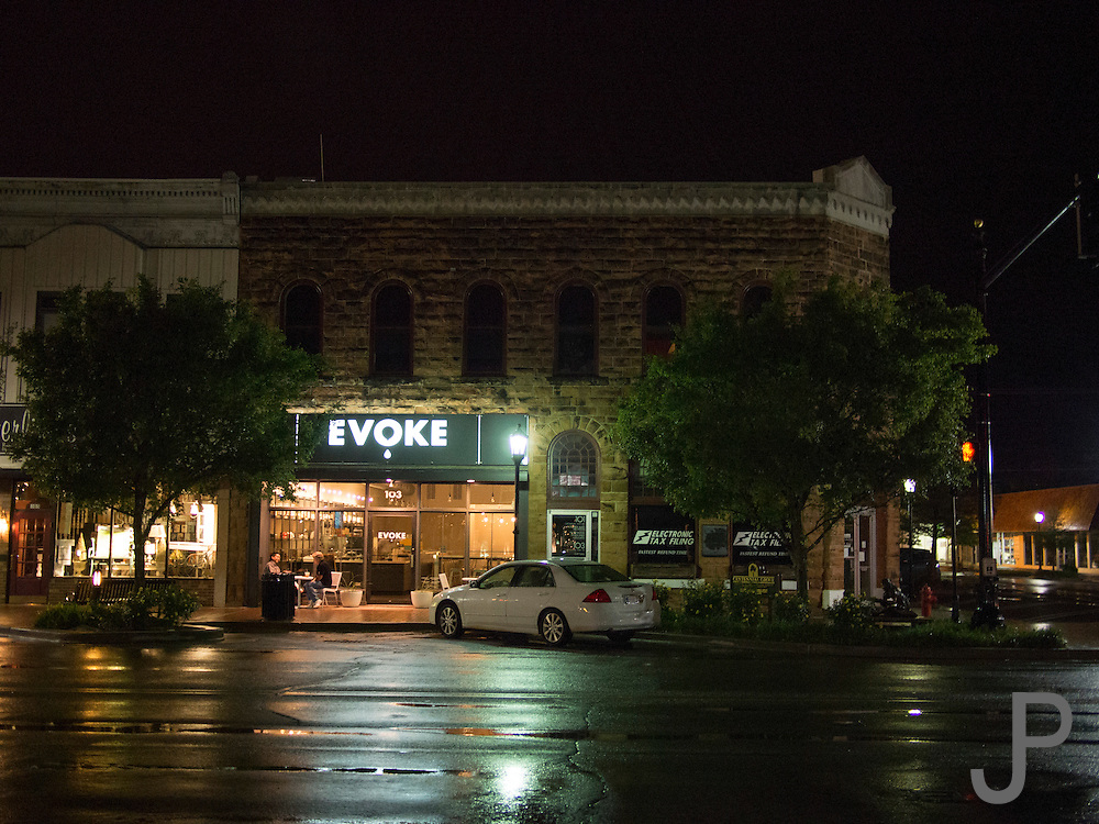 Downtown Oklahoma City during the rain