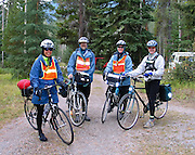 Starting at the Whistlers Campground, bicycle the Icefields Parkway in Jasper National Park, Canada. For licensing options, please inquire.