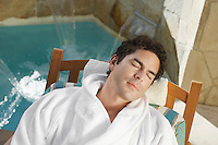Man Resting at the Spa
