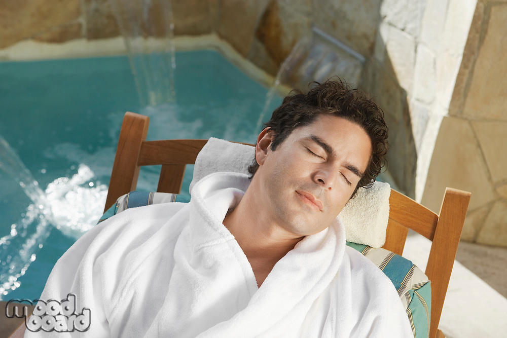 Man Resting at the Spa