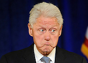 Former President Bill Clinton speaks at a rally for Gov. Dannel P. Malloy in Hartford, Conn. (AP Photo/Jessica Hill)