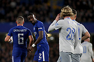 Antonio Rudiger of Chelsea &copy; looks on. <br /> EFL Carabao Cup 4th round match, Chelsea v Everton at Stamford Bridge in London on Wednesday 25th October 2017.<br /> pic by Kieran Clarke, Andrew Orchard sports photography.