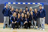 ROTTERDAM  - NK Zaalhockey . Finale Laren-HDM  (v) 1-2. Het team van Laren met zilver. .   COPYRIGHT KOEN SUYK
