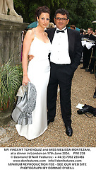 MR VINCENT TCHENGUIZ and MISS MELISSA MONTEZANI, at a dinner in London on 17th June 2004.  PWI 238