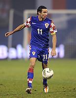 Fussball International, Nationalmannschaft   EURO 2012 Play Off, Qualifikation, Kroatien - Tuerkei       15.11.2011 Darijo Srna (Kroatien)