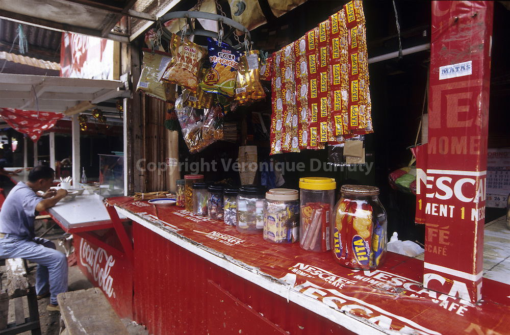 SMALL RESTAURANT IN A MARKET OF BAGUIO, LUZON ISLAND, THE PHILIPPINES