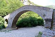 A stone bridge Zagori, Pindus mountains, Epirus, Greece.