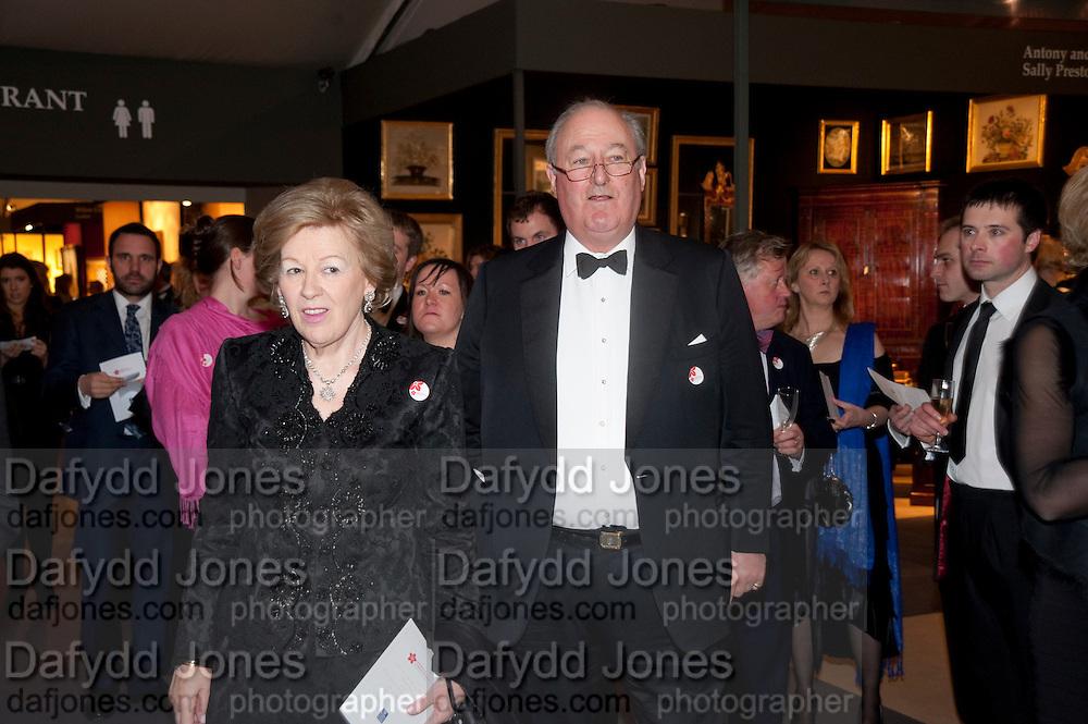 LADY CADOGAN; LORD CADOGAN, Bada Antiques Fine art Fair charity Gala. In aid of Leukaemia and Lymphoma Research. 18 March 2010.