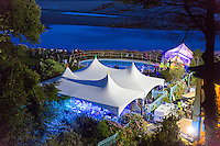 The village at night<br /> Festival No 6<br /> Festival Number 6<br /> Portmeirion<br /> Gwynedd<br /> North<br /> Arts<br /> Music<br /> Culture<br /> Events