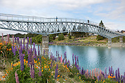 Lake Tekapo's new footbridge, New Zealand.