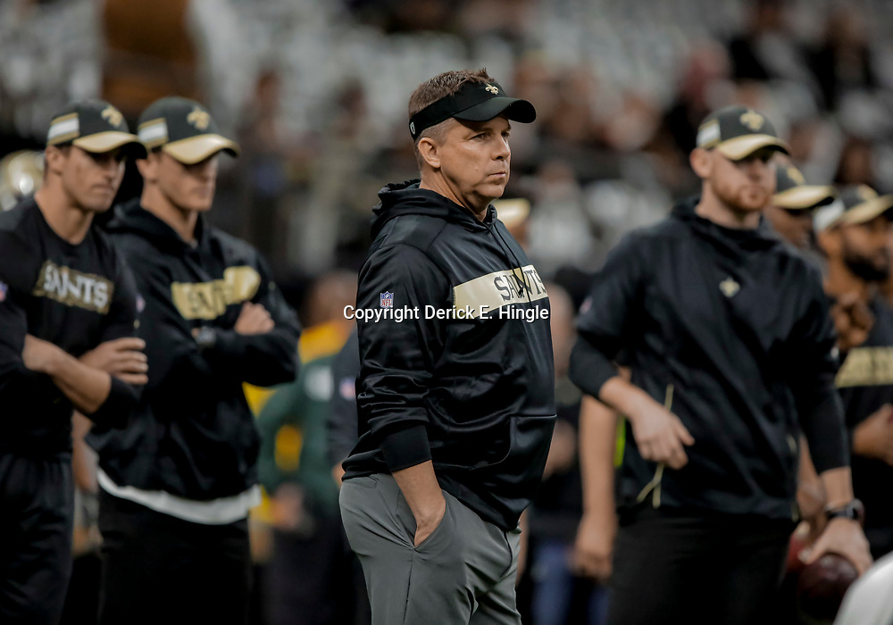 Dec 30, 2018; New Orleans, LA, USA; New Orleans Saints head coach Sean Payton prior to kickoff against the Carolina Panthers at the Mercedes-Benz Superdome. Mandatory Credit: Derick E. Hingle-USA TODAY Sports