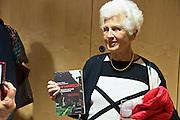 """Vienna, Hauptbuecherei. Presentation of the book """"Aufmarsch: Die rechte Gefahr aus Osteuropa"""" by  Gregor Mayer and Bernhard Odehnal.  Freda Meissner-Blau."""