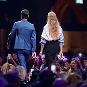 NLD/Amsterdam/20181103 - Elite Model Look finale 2018, winnaars Olivier Julius Hagen en  Cristella Janse Van Rensburg