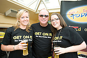 DJ Tony Fenton with Leola Lillis, Galway Tina Nic Caba, Galway  at the Budweiser Ice Cold Summer BBQ, broadcast live on the Tony Fenton Show at The Galway Bay Hotel in Salthill. Photo:Andrew Downes.. .Both Duke Special and The Divine Comedy performed at the summer kick-off party and Today FM's Tony Fenton Show broadcast live from the hotel all afternoon...The 150 invited guests included Today FM listeners ad Budweiser Ice Cold Facebook fans from all over the country. Guests also won the chance to win a cool Grand in cash, meet Mr. Iceman and of course enjoy a pint of Budweiser Ice Cold, the coldest pint ever!..Enjoy Budweiser Ice Cold sensibly visit www.drinkaware.ie ..This event was strictly over 18's,..-ENDS-..FOR FURTHER INFORMATION PLEASE CONTACT:.Killian Burns / Aoiffe Madden..Killian.burns@ogilvy.com / aoiffe.madden@ogilvy.com.WHPR..Tel: 01 6690030.