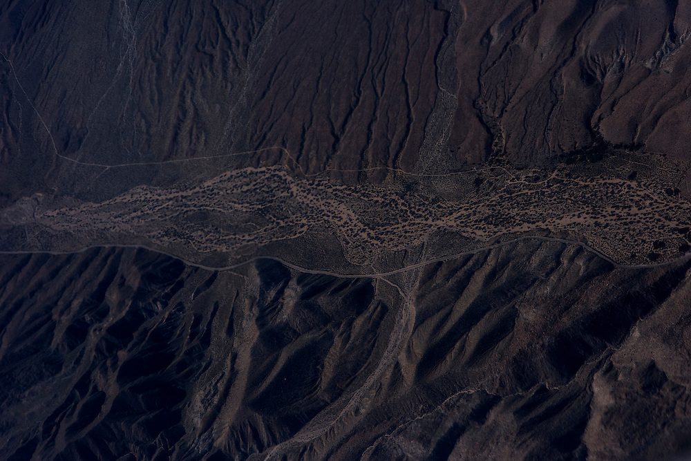March 12, 2015:  The view of one of California's deserts from an Airplane<br /> CREDIT: Matt Roth