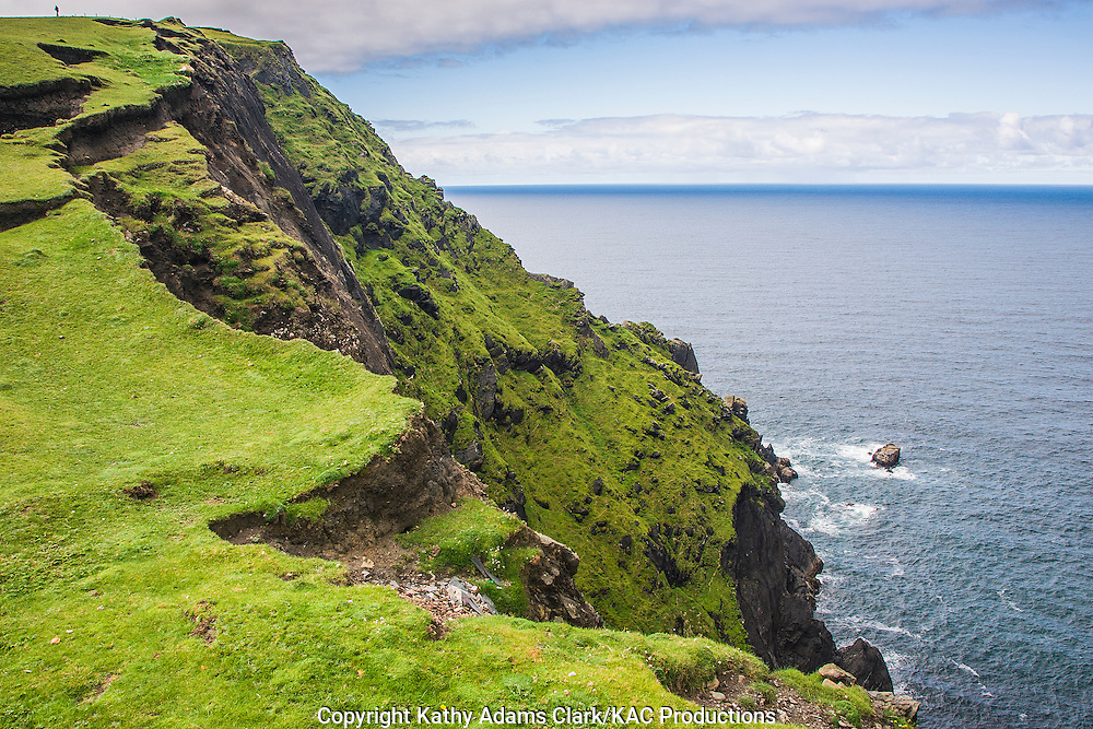 Cliffs of Clare Island off coast of western Ireland