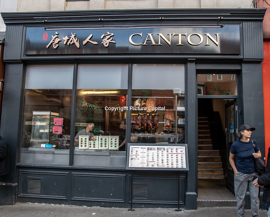 Canton in London Chinatown Sweet Tooth Cafe and Restaurant at Newport Court and Garret Street on 15 June 2019, UK.