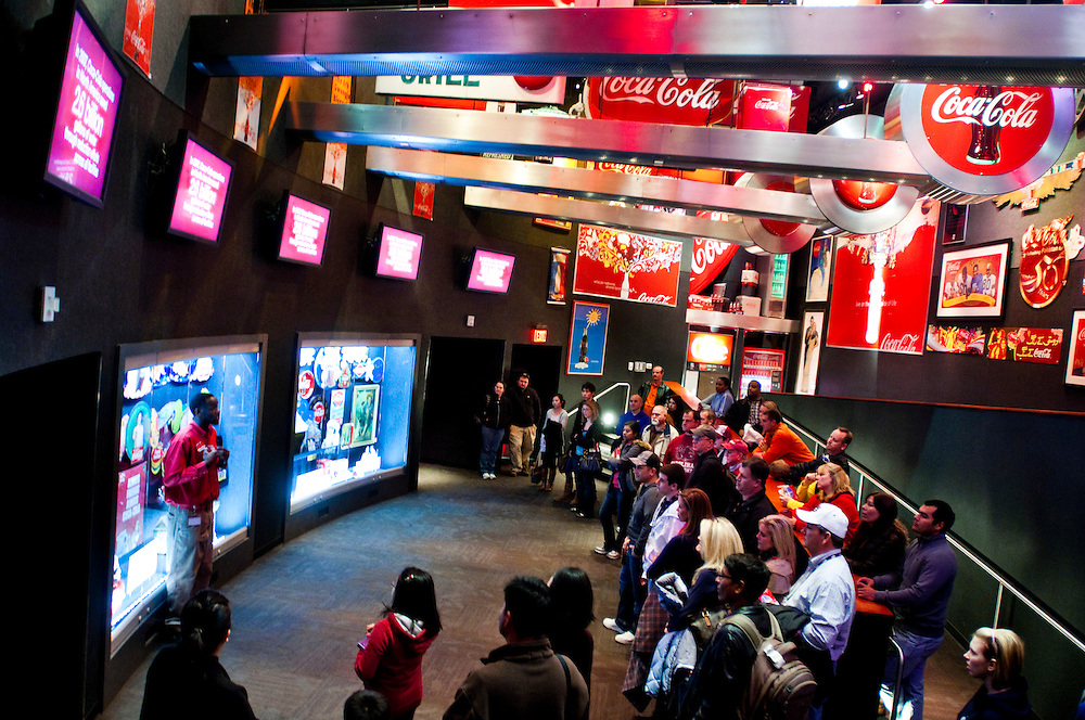 The World of Coca-Cola is a permanent exhibition featuring the history of The Coca-Cola Company and its well-known advertising as well as a host of entertainment areas and attractions.