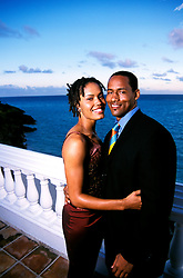 Bermuda: Couple at Sunset..Model Released  .Photo Copyright Lee Foster, 510/549-2202, lee@fostertravel.com, www.fostertravel.com...Photo #: bermud106
