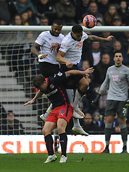 Derby hold of Reading Pavel Pogrebnyak, Derby County v Reading, FA Cup 5th Round, The Ipro Stadium, Saturday 14th Febuary 2015
