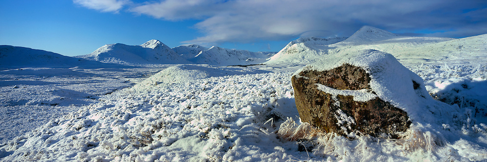 Rannoch Mor view, looking over to Black mount, just before Glencoe in Midwinter.