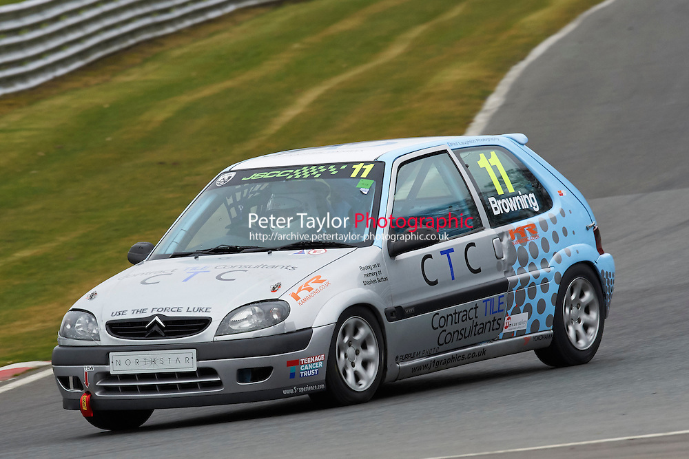#11 Luke BROWNING Citroen Saxo VTR 1600 during Junior Saloon Car Championship as part of the BARC NW - Championship Raceday  at Oulton Park, Little Budworth, Cheshire, United Kingdom. March 19 2016. World Copyright Peter Taylor/PSP. Copy of publication required for printed pictures.  Every used picture is fee-liable. http://archive.petertaylor-photographic.co.uk