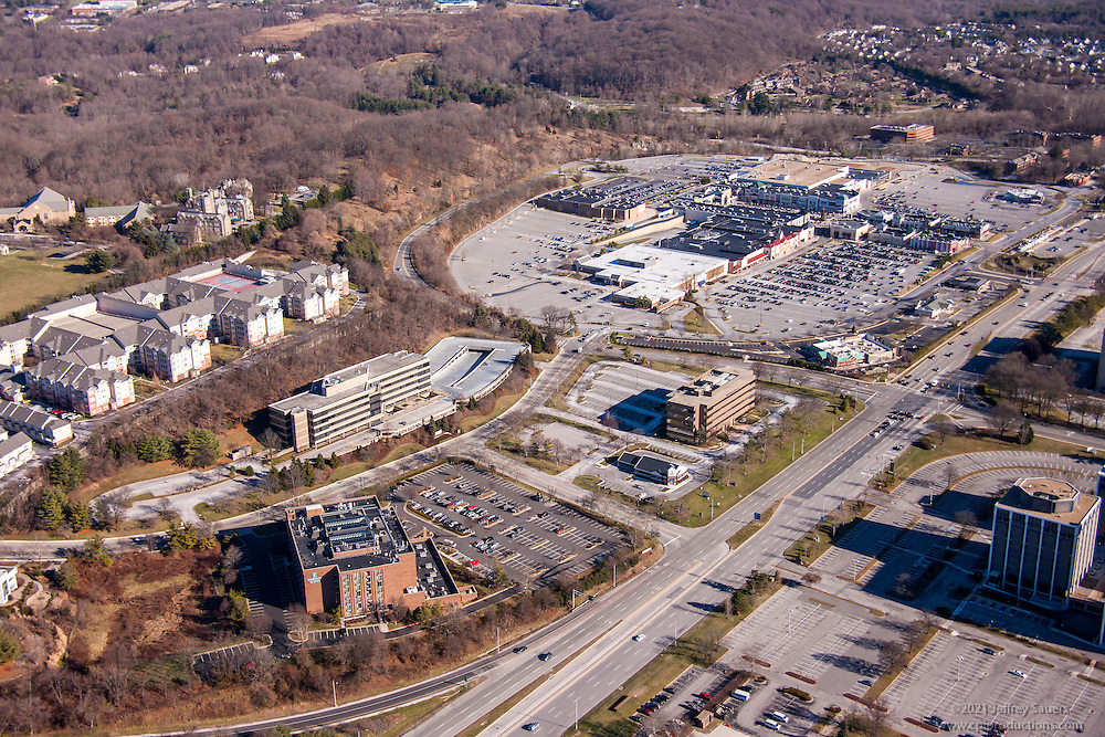 Baltimore area aerial photo of Embassy Suites Hotel in Hunt Valley MD by Jeffrey Sauers of Commercial Photographics