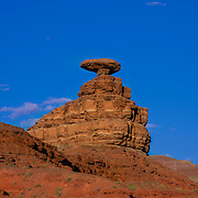 Mexican Hat located in San Juan County, Utah.