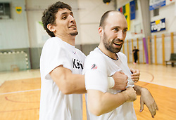 Jure Dobelsek and Vid Kavticnik during the Training Camp before IHF Men's Handball World Championship Spain 2013 on January 9, 2013 in Zrece, Slovenia. (Photo By Vid Ponikvar / Sportida.com)
