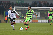 Forest Green Rovers Liam Noble(15)] passes the ball during the Vanarama National League match between Forest Green Rovers and Boreham Wood at the New Lawn, Forest Green, United Kingdom on 11 February 2017. Photo by Shane Healey.