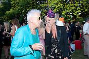 NICKY HASLAM; AMANDA ELIASCH;, The Summer Party. Serpentine Gallery. 8 July 2010. -DO NOT ARCHIVE-© Copyright Photograph by Dafydd Jones. 248 Clapham Rd. London SW9 0PZ. Tel 0207 820 0771. www.dafjones.com.