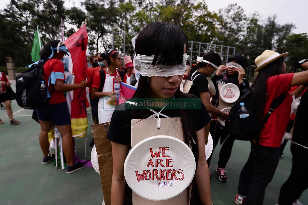 May 1, 2019 - Hong Kong, CHINA - Indonesian domestic workers participated in the annual May Day Parade in Hong Kong.May-1,2019 Hong Kong.ZUMA/Liau Chung-ren (Credit Image: © Liau Chung-ren/ZUMA Wire)
