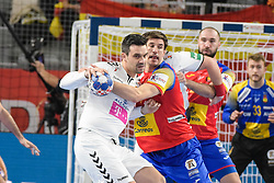 handball match between National teams of Macedonia and Spain on Day 4 in Main Round of Men's EHF EURO 2018, on January 21, 2018 in Arena Varazdin, Varazdin, Croatia. Photo by Mario Horvat / Sportida