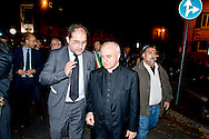 Roma, 16 Ottobre 2013<br /> Commemorazione per le deportazioni degli ebrei dal ghetto di Roma del 16 ottobre 1943.Riccardo Pacifici, presidente della comunit&agrave; ebraica di RomaArcivescovo Vincenzo Paglia<br /> Rome, 16 October 2013<br /> 70/o anniversary, Rome remembers October 16 1943,when over a thousand Roman Jews,and among them 350 children,were driven from their homes.An official ceremony and candlelight vigil is organized by the Community of Sant'Egidio and the Jewish Community.President of the Jewish community of Rome Riccardo Pacifici,Vincenzo Paglia Roman Catholic archbishop, the President of the Holy See's Pontifical Council for the Family