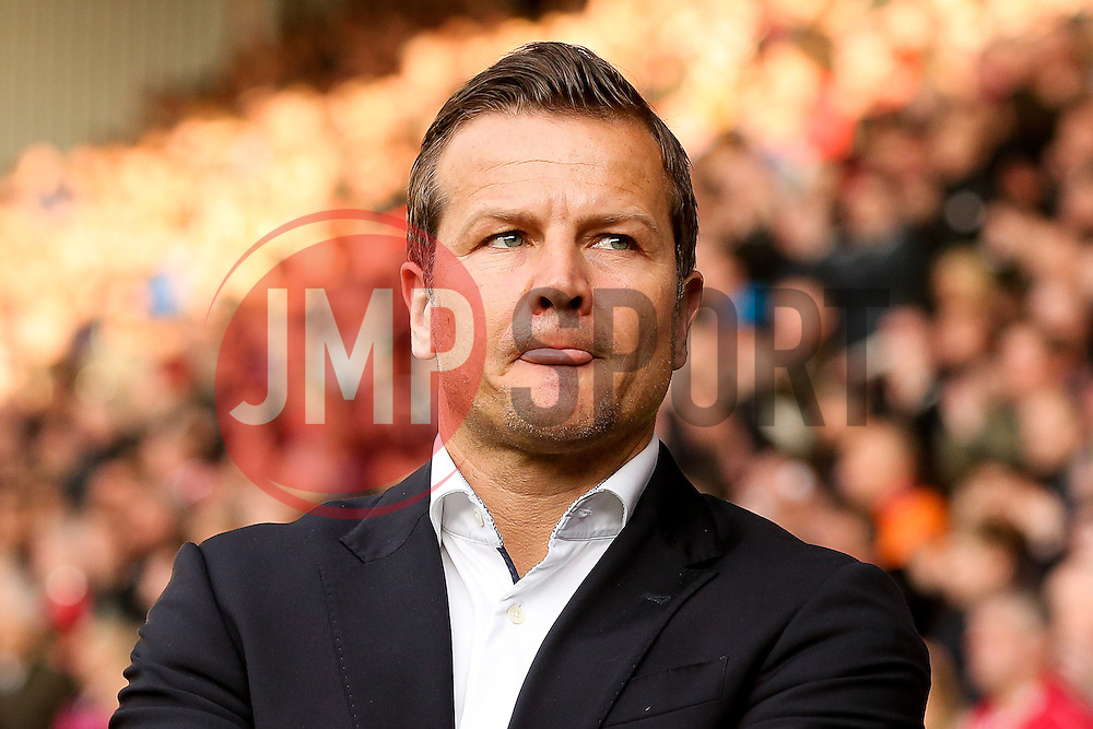 Swindon Town Manager, Mark Cooper  - Photo mandatory by-line: Matt McNulty/JMP - Mobile: 07966 386802 - 07/05/2015 - SPORT - Football - Sheffield - Bramall Lane - Sheffield United v Swindon Town - Sky Bet League One