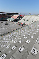 Construction work in the stadium arena.<br /> Autodromo Hermanos Rodriguez Circuit Visit, Mexico City, Mexico. Thursday 22nd January 2015.